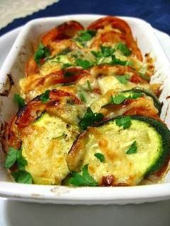 ズッキーニとトマトのチーズ焼