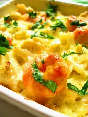 クリーミーなポテトが優しい味‐エビ入りカリフラワーチーズ