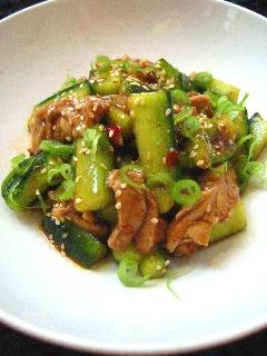 後を引く味-鶏ときゅうりの中華和え