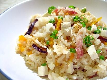 中華風豆腐五目炊き込みご飯