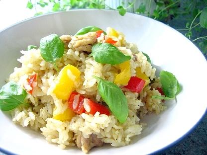 鶏のグリーンカレー炊き込みご飯