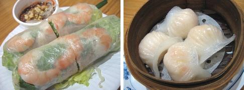 生春巻き&エビ餃子