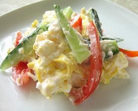卵、きゅうり、トマトのマヨネーズ和え
