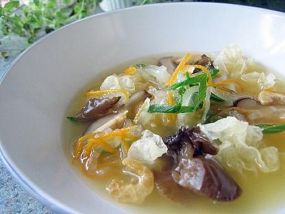 大根ときくらげのスープ