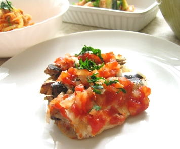 レンジでオイルサーディンのトマトソース