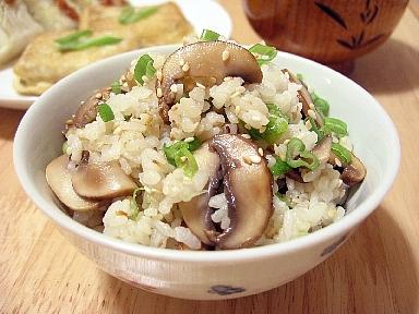 茸とゆずとんの混ぜご飯