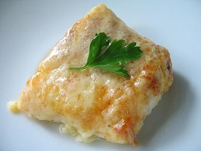 タラのキムチーズ焼き