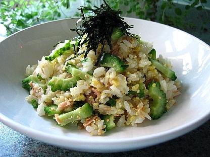 ゴーヤとツナの混ぜご飯3