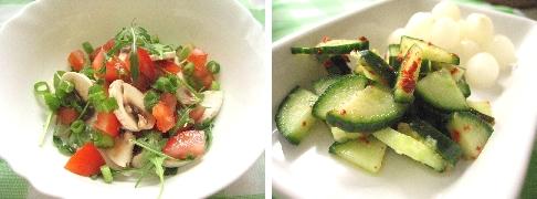 トマトサラダ&きゅうり漬け