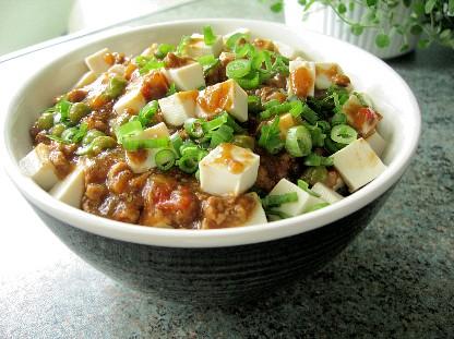 キーマ豆腐丼