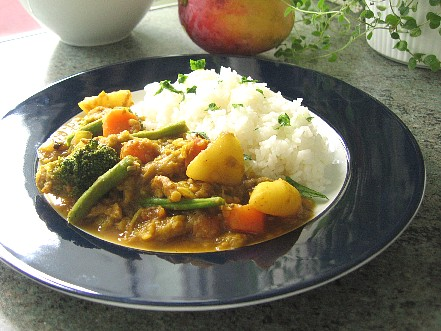 赤レンズ豆と野菜のカレー