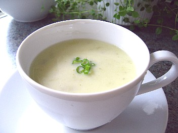 じゃがいもとリークの冷たいスープ