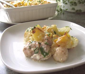 鶏肉とじゃがいものコーンマヨネーズ焼