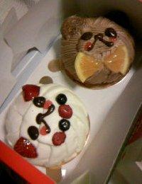 こもっちからケーキ
