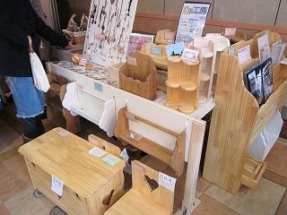 手作り木工品の数々
