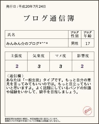 ブログ通信簿20.7.24