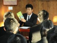 2011.1.17 新居浜東高校の労働セミナーでの別労の藤原書記長