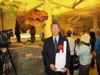 2012.3.24 総合科学博物館 ティラノサウルスと石川みのる2