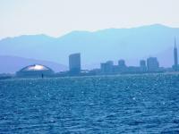2012.3.26 浮体式海上風力発電所からヤフーードーム