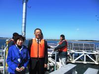 2012.3.26 浮体式海上風力発電所で佐々木明美・山口県議会議員と