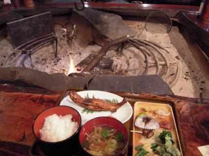 岩魚山椒味噌焼き定食