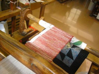 半幅裂き織り2