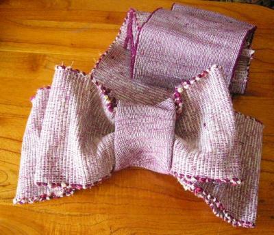 半巾裂き織