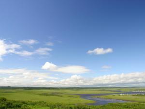 「霧多布湿原」~浜中町・琵琶瀬展望台からの風景