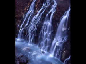 「白髭の滝」~美瑛町白金温泉の風景