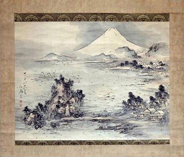 菅 江嶺画:『 富士 』(江嶺88歳の時の作品)