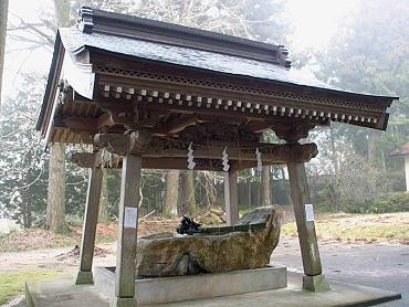 秋吉八幡宮の手水舎