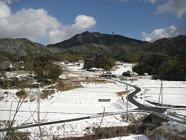 綾木鍋倉、「長門大石」バス停からの風景