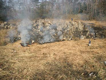 ドリーネ耕作地完全焼却へ-4