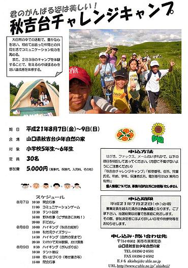 秋吉台チャレンジキャンプ