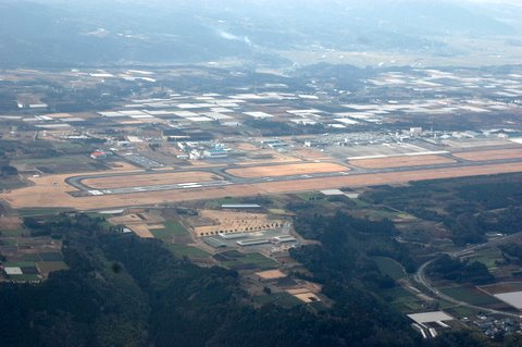 上空より 阿蘇熊本空港