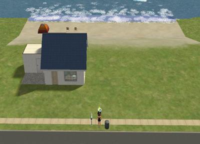 ビーチ区画で建設