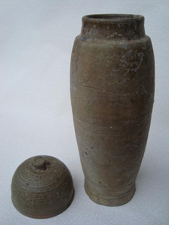 陶製経筒 平安時代