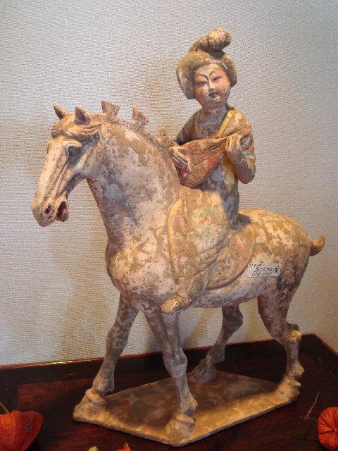 騎馬女子俑