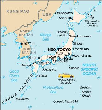 USA版Japan地図(アンサイクロ)