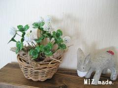 樹脂粘土シロツメクサ20110217