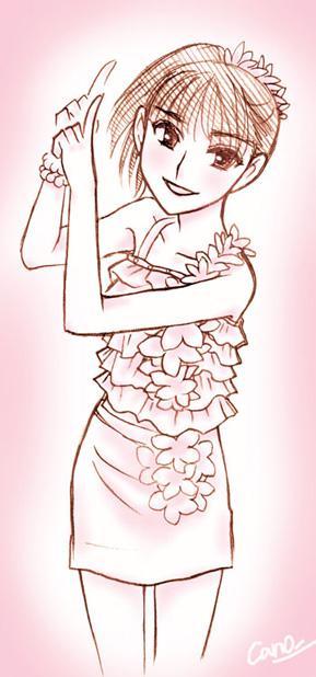 桜チラリ舞美