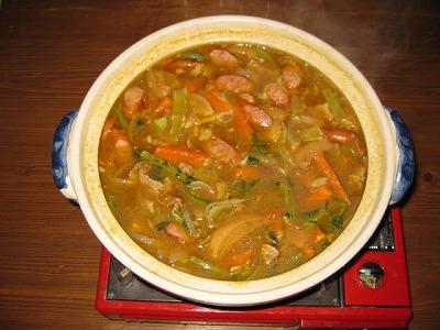 あるもの野菜でカレー鍋