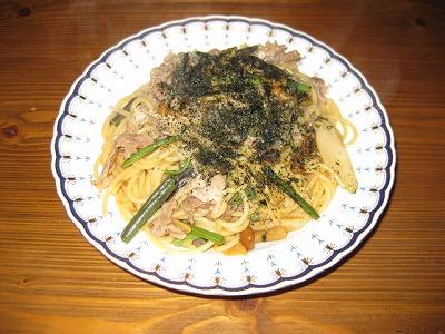 和風山菜スパッゲティ