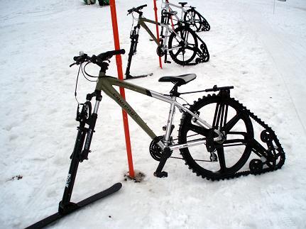 雪上チャリ