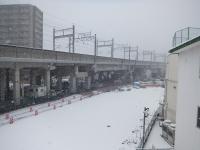 雪景色の西側