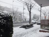 雪景色の東側
