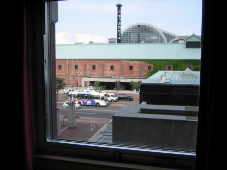 3916ホテルの窓外