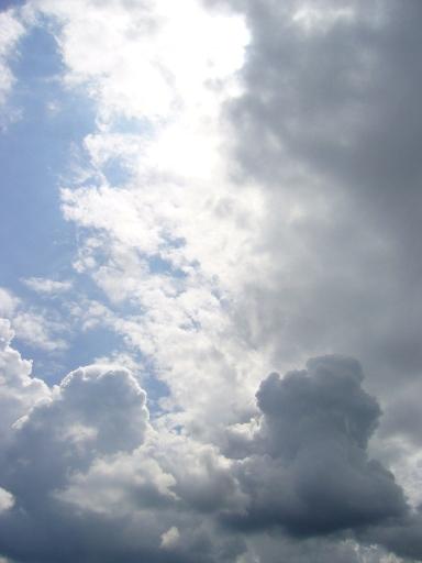 雲のグラデーション