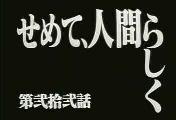 せめて人間らしく(EVA)
