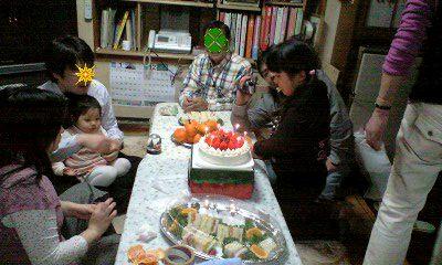 081221クリスマスケーキとみんな-0001-0001